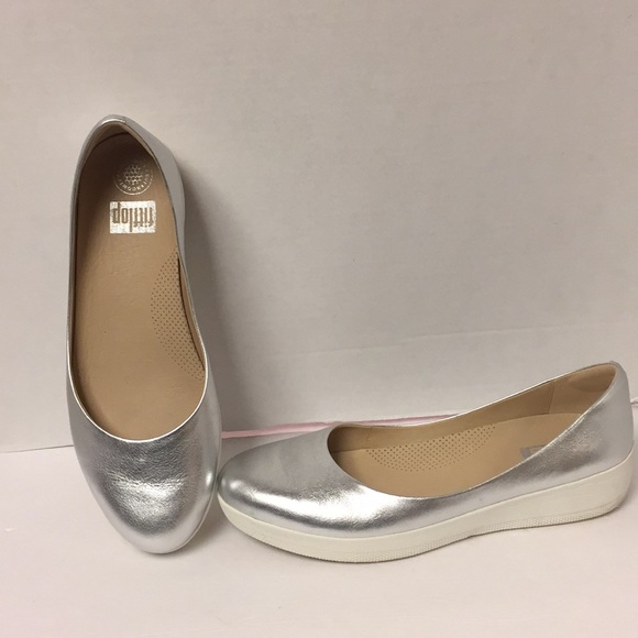 Fitflop Silver Super Ballerina Shoes